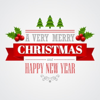 Etiquetas navideñas, emblemas, elementos decorativos, tarjetas de felicitación