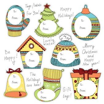 Etiquetas navideñas para regalos