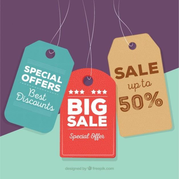 Etiquetas de ofertas especiales