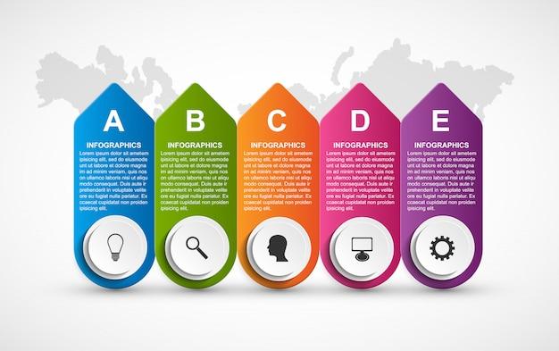 Etiquetas de opciones de infografía