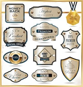 Etiquetas de oro de lujo