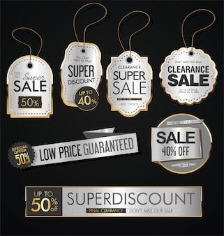 Etiquetas de oro venta estilo vintage