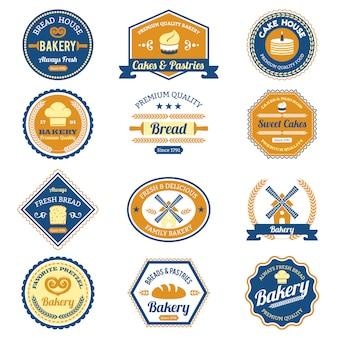 Etiquetas de panadería de la magdalena