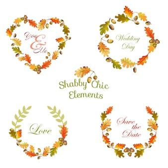 Etiquetas y pancartas florales vintage para diseños de camisetas