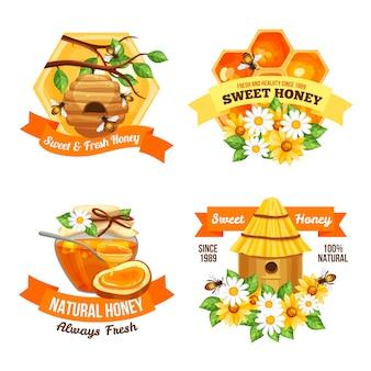 Etiquetas publicitarias de miel