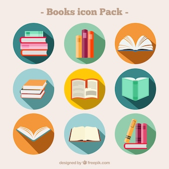 Etiquetas redondas de libros