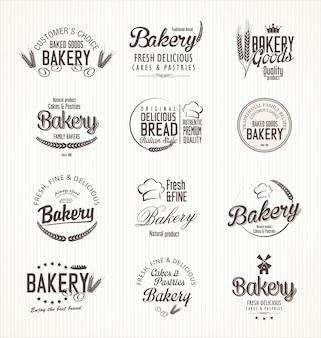 Etiquetas retro panadería