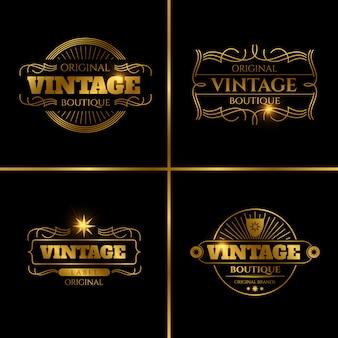 Etiquetas retro para tarjetas vintage