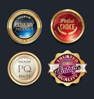 Etiquetas retro vintage de oro de la venta estupenda de la mejor calidad