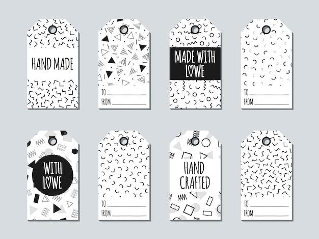 Etiquetas y tarjetas de regalo de memphis.