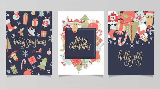 Etiquetas y tarjetas de regalo de navidad