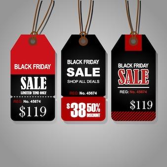 Etiquetas de venta de viernes negro