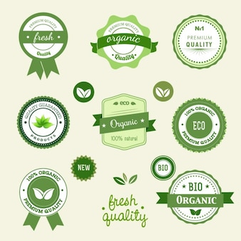 Etiquetas verdes ecológicas