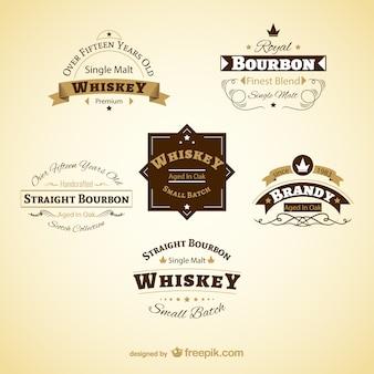 Etiquetas vintage de bebidas