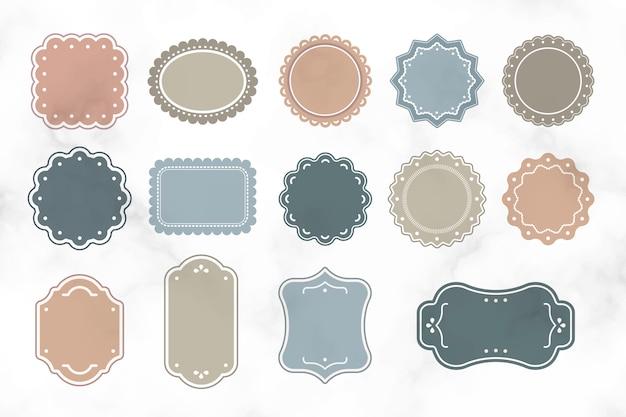 Etiquetas vintage en blanco