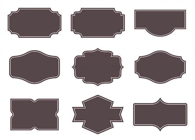 Etiquetas vintage conjunto de marcos retro.