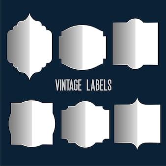 Etiquetas vintage con reflejo
