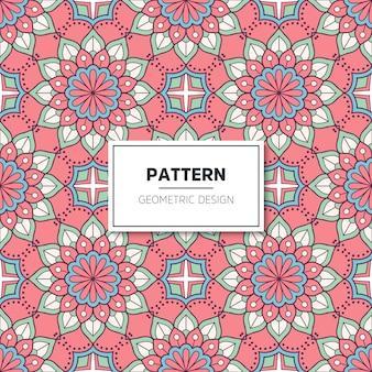 Étnico patrón floral sin fisuras con mandalas