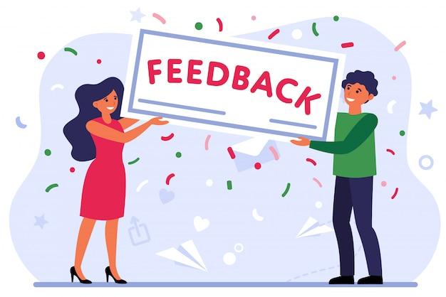 Evaluación positiva del cliente