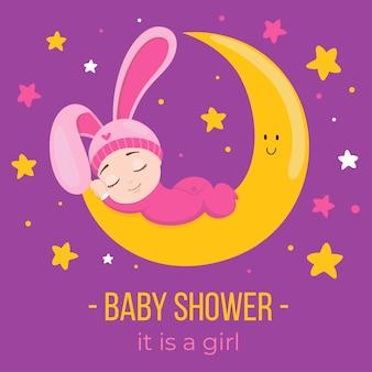 Evento de baby shower con diseño de niña