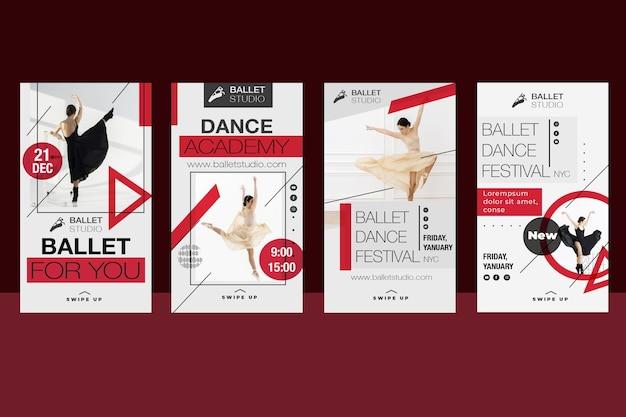 Evento de ballet de diseño de historias de instagram