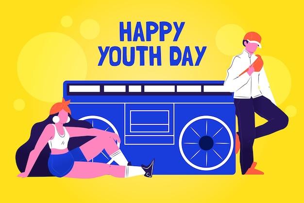Evento colorido del día de la juventud illustartion