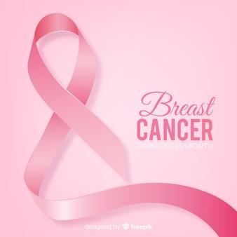 Evento de concientización sobre el cáncer de mama estilo realista