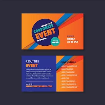 Evento corporativo y tarjeta de seminario. diseño de invitación.