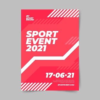 Evento deportivo plantilla de cartel diseño minimalista