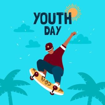 Evento de día de juventud de diseño plano