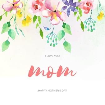 Evento del día de la madre de estilo floral