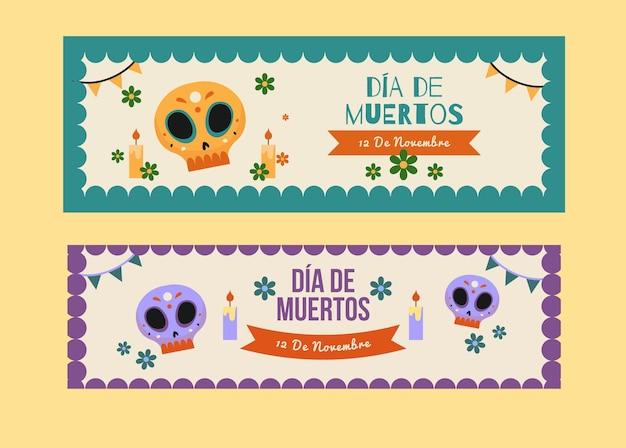 Evento del día de los muertos de diseño vintage