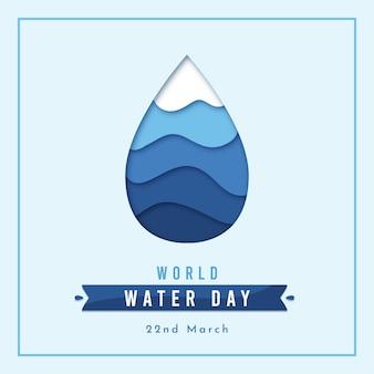 Evento del día mundial del agua en diseño plano