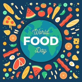 Evento del día mundial de la alimentación ilustrado