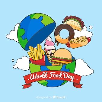 Evento del día mundial de la comida plana
