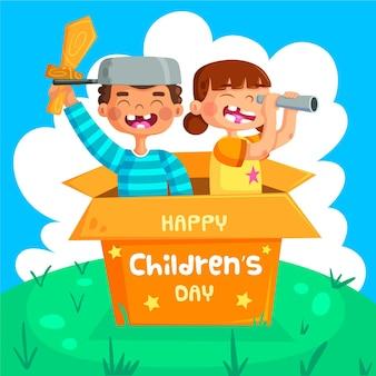 Evento del día mundial del niño con niños.