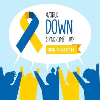Evento del día mundial del síndrome de down ilustrado