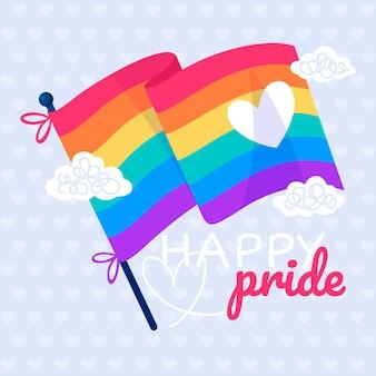 Evento del día del orgullo con bandera