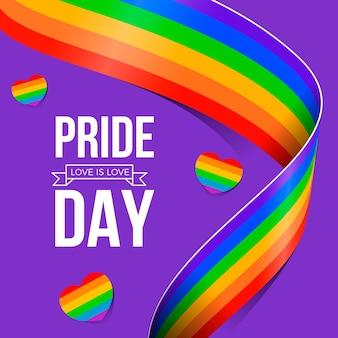 Evento del día del orgullo de diseño de la bandera