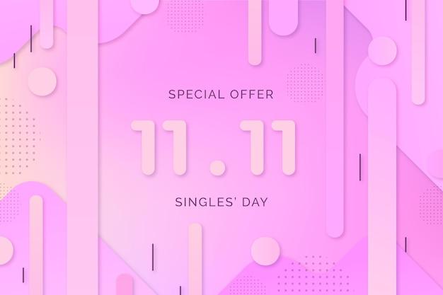 Evento del día de los solteros degradado de estilo abstracto