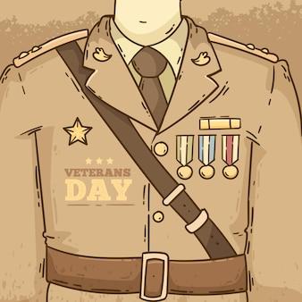 Evento del día de los veteranos de diseño vintage