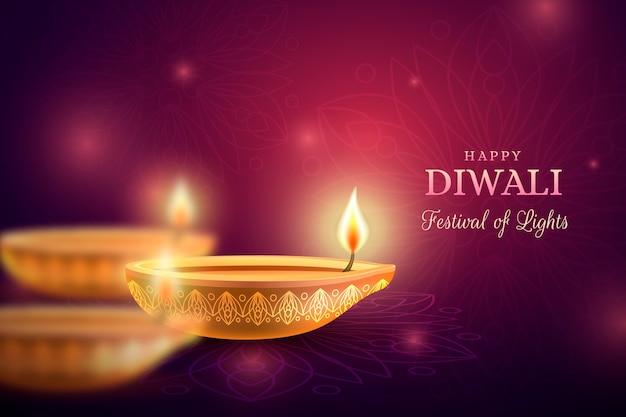 Evento de diwali con efecto bokeh