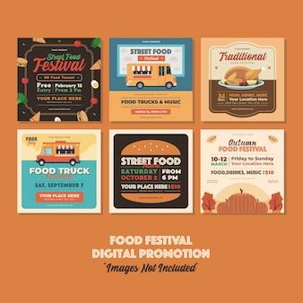 Evento festival de comida promoción digital.