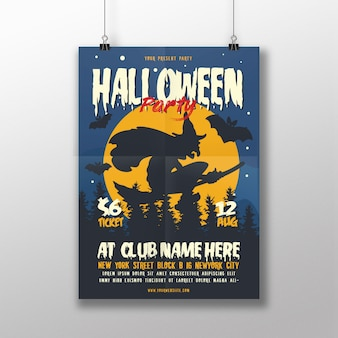 Evento de halloween flyer