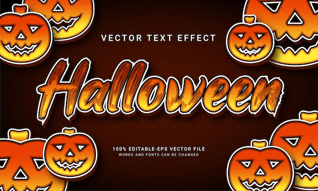 Evento de halloween temático de efecto de estilo de texto de halloween