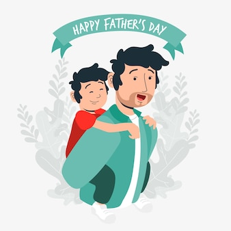 Evento de ilustración del día del padre