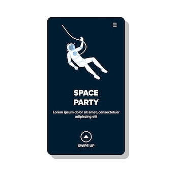 Evento de música y baile temático de fiesta espacial