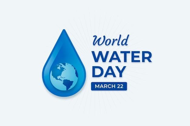 Evento plano del día mundial del agua