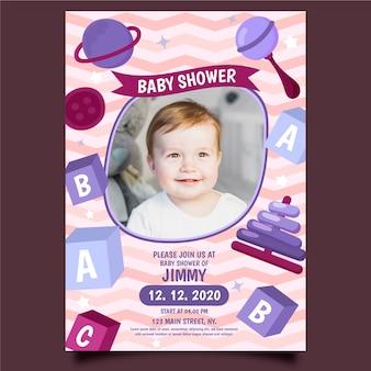 Evento de plantilla de invitación de baby boy shower