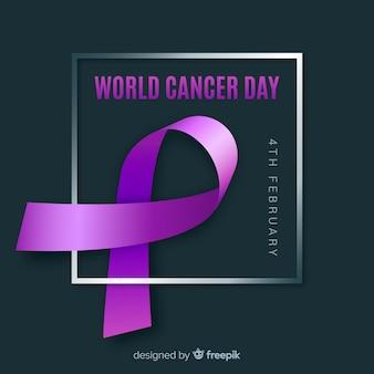 Evento realista del día mundial del cáncer